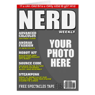 Nerd Personalised Magazine Cover Card