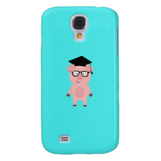 Nerd Pig with glasses Q1Q Galaxy S4 Cases