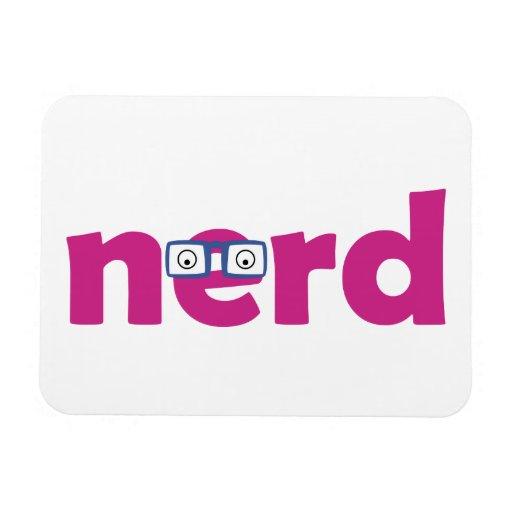 nerd rectangular magnet