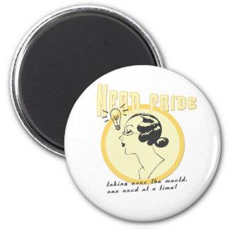 Nerd Pride 6 Cm Round Magnet