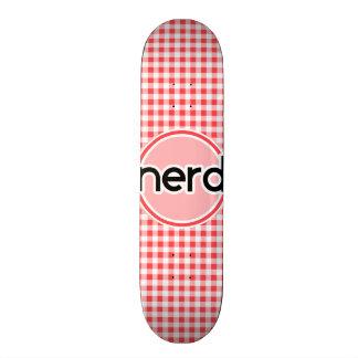 Nerd; Red and White Gingham Skateboard Decks