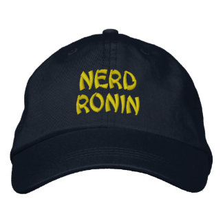 nerd ronin embroidered baseball caps