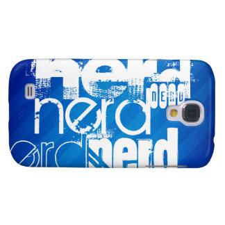 Nerd; Royal Blue Stripes Galaxy S4 Covers