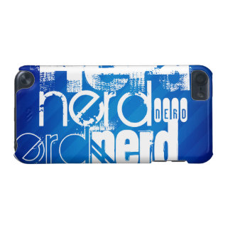 Nerd; Royal Blue Stripes iPod Touch (5th Generation) Covers