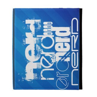 Nerd; Royal Blue Stripes iPad Folio Covers