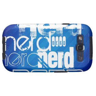 Nerd; Royal Blue Stripes Samsung Galaxy SIII Case