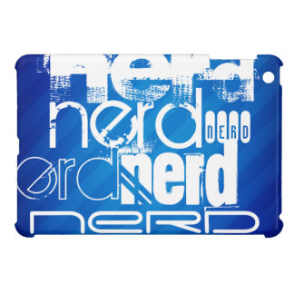Nerd; Royal Blue Stripes Cover For The iPad Mini