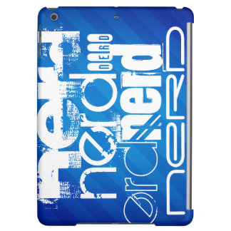 Nerd; Royal Blue Stripes iPad Air Cases