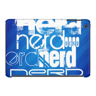Nerd; Royal Blue Stripes iPad Mini Cases