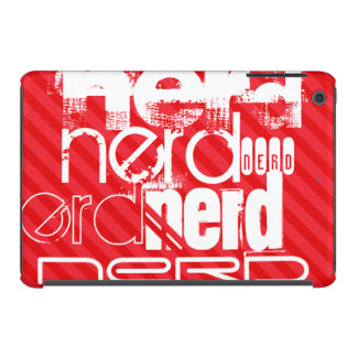 Nerd; Scarlet Red Stripes iPad Mini Cases