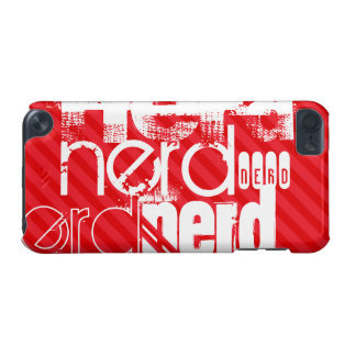 Nerd; Scarlet Red Stripes iPod Touch 5G Cases