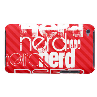 Nerd; Scarlet Red Stripes iPod Touch Covers
