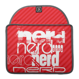 Nerd; Scarlet Red Stripes Sleeve For MacBooks