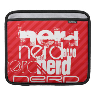 Nerd; Scarlet Red Stripes Sleeves For iPads