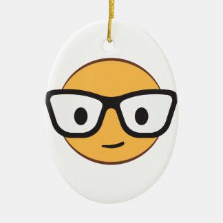 nerd smile face AdobeStock_122200113.ai Ceramic Oval Decoration
