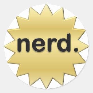 Nerd Round Stickers