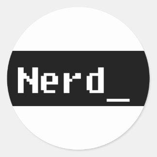 Nerd Round Sticker