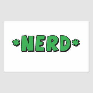 nerd rectangular sticker