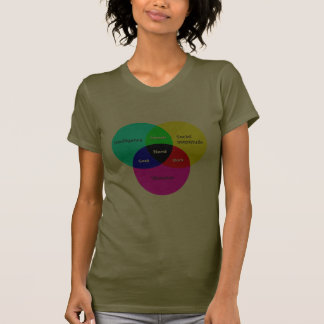 Nerd Venn Diagram 2 ladies T Tee Shirts