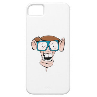 Nerd with Glasses iPhone 5 Cases