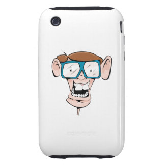Nerd with Glasses Tough iPhone 3 Cover