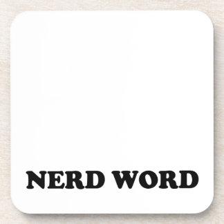 Nerd Word Drink Coasters