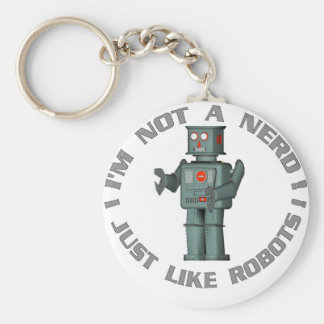 NerdBot Basic Round Button Key Ring