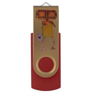 NerdBot USB Flash Drive by Elle Rose Swivel USB 3.0 Flash Drive