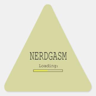 Nerdgasm Loading (with Data Bar) Triangle Sticker