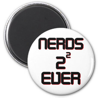 Nerds 4 Ever 6 Cm Round Magnet