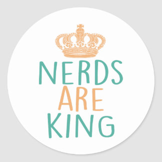 Nerds Are King Round Stickers