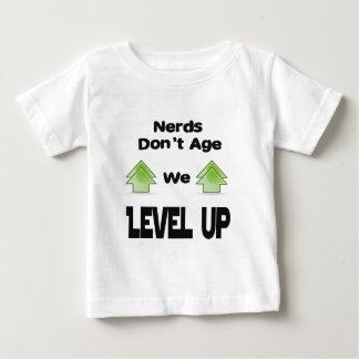 Nerds Don't Age We Level Up Baby T-Shirt