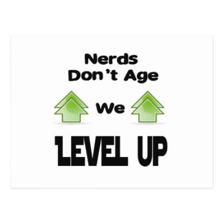 Nerds Don't Age We Level Up Postcard