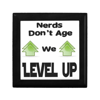 Nerds Don't Age We Level Up Small Square Gift Box