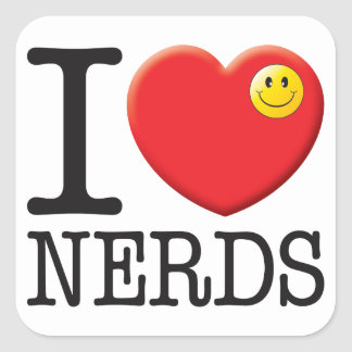 Nerds Love Square Stickers