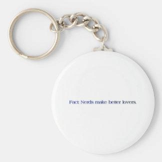 nerds make better lovers basic round button key ring