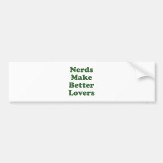 Nerds Make Better Lovers Bumper Stickers