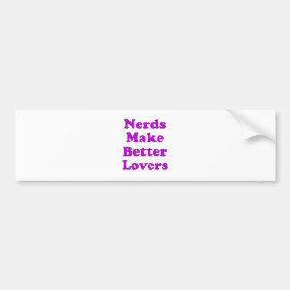 Nerds Make Better Lovers Car Bumper Sticker