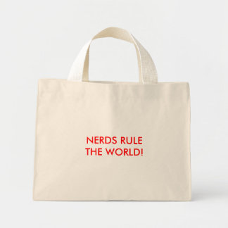 NERDS RULE THE WORLD! MINI TOTE BAG
