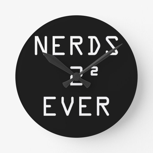 Nerds Two Squared (4) Ever Wall Clock