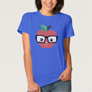 Nerdy Apple with Glasses T-Shirt