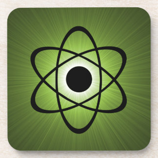Nerdy Atomic Coaster Set, Green