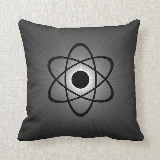 Nerdy Atomic Pillow, Gray Cushion