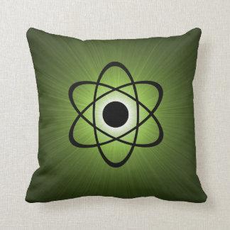 Nerdy Atomic Pillow, Green