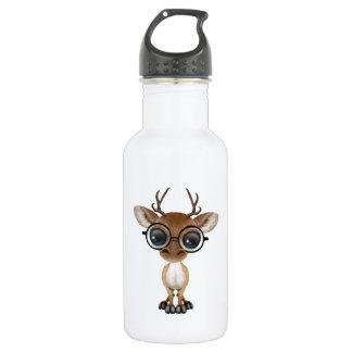 Nerdy Baby Deer Wearing Glasses 532 Ml Water Bottle