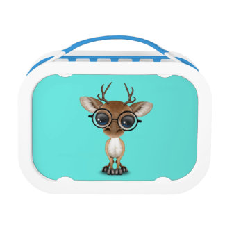 Nerdy Baby Deer Wearing Glasses Lunch Box