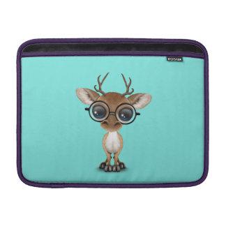 Nerdy Baby Deer Wearing Glasses MacBook Sleeve