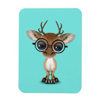 Nerdy Baby Deer Wearing Glasses Magnet
