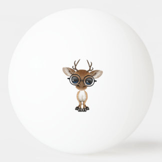 Nerdy Baby Deer Wearing Glasses Ping Pong Ball