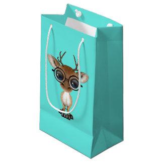 Nerdy Baby Deer Wearing Glasses Small Gift Bag